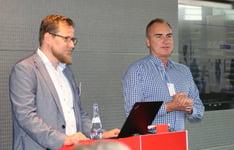 Vortrag von Herrn Berthold und Herrn Schröder von der Firma Netgo auf dem kiwiko Partnertreffen