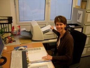 Stadtwerke Borken Mitarbeiterin bei der Arbeit