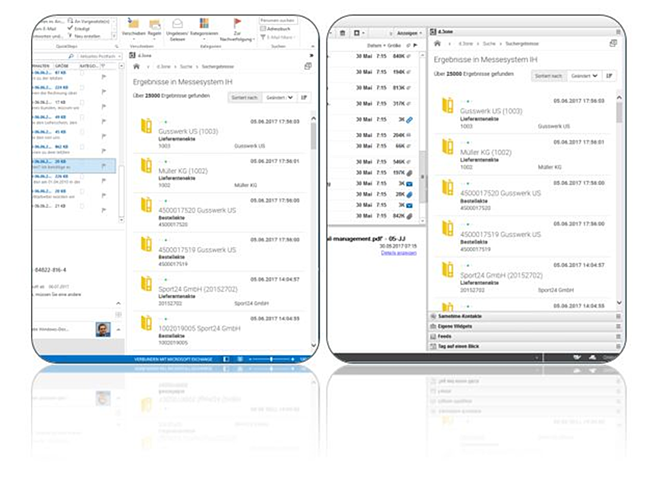 d.3one in Outlook Aktenplan