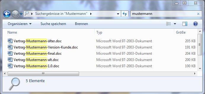 Dateisuche auf Fileserver