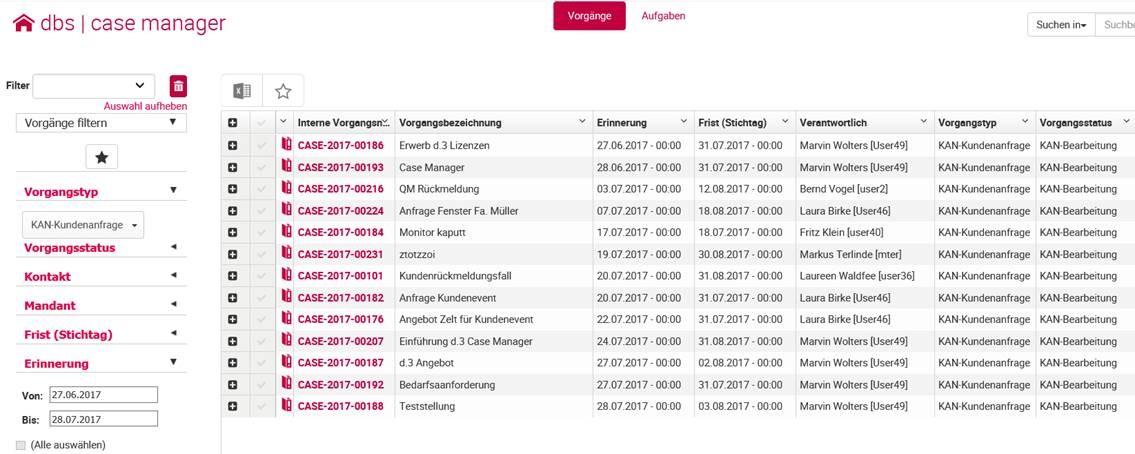 Digitales Vorgangsmanagement im dbs   case manager von d.3ecm