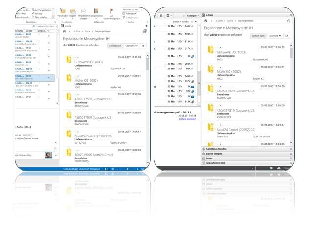 Beispiel digitale E-Mail Archivierung