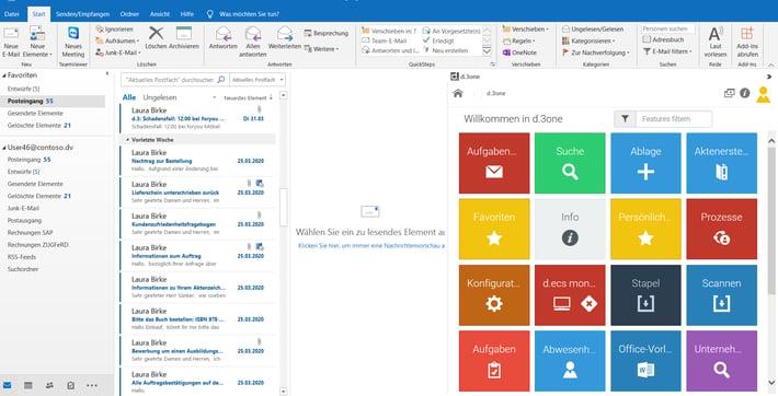 Vorgänge komfortabel aus dem Prozessportal in Outlook aufrufen