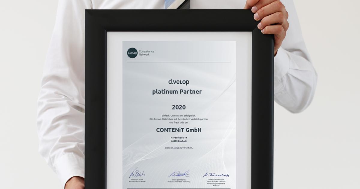 CONTENiT erneut d.velop Platinum Partner